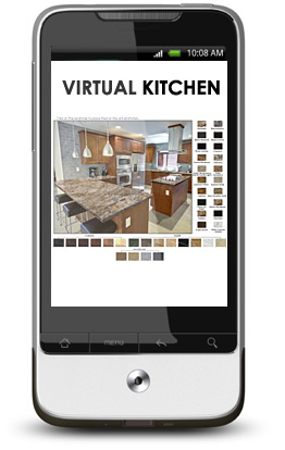Virtual Kitchen on smartphone